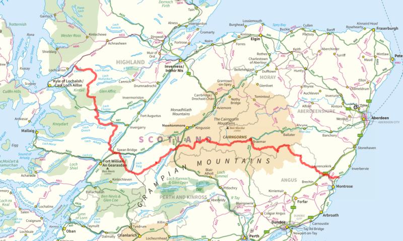 2014 TGO Challenge Route