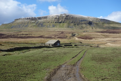 Pen-y-Ghent Fell and Fawcett Moor from Blishmire House