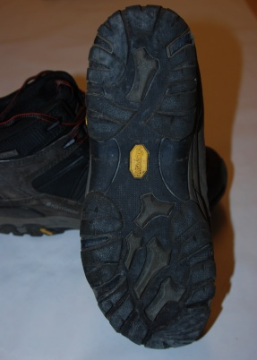 Designed by Karrimor, specified by Vibram, manufactured by Teflon !