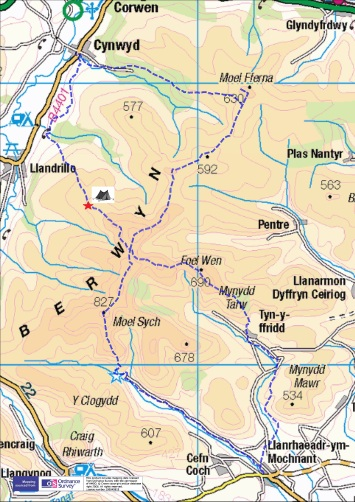 Berwyns 2 day trek_overview map-page-0