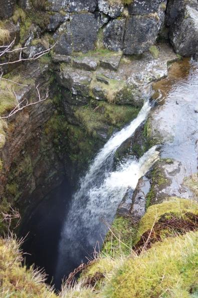 Gaping Gill - where Fell Beck plunges 322 feet underground as England's highest unbroken waterfall.