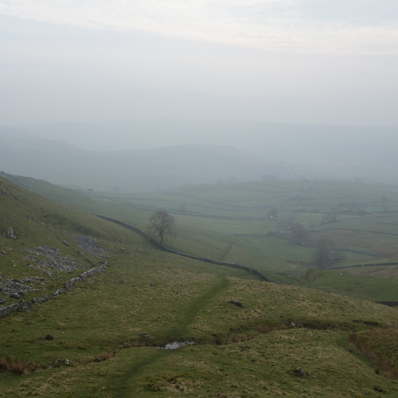 Descending from Pikedaw Hill toward Malham