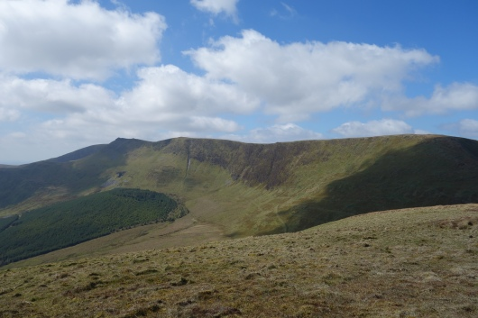 The Berwyn tops from Foel Wen