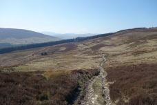 Descending toward Cymwyd from Moel Fferna