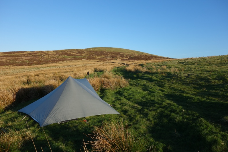 Camped below Moel Pearce