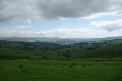 East towards Derbyshire