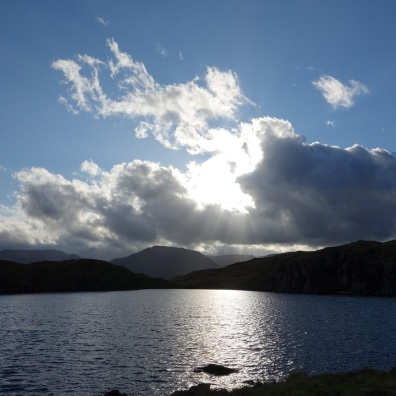 Evening sun over Angle Tarn