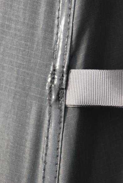 Door tie back loop