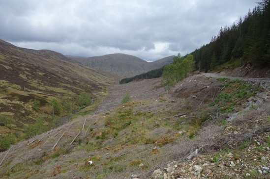Forest cleared for river hydro scheme in Gleann Cia-aig