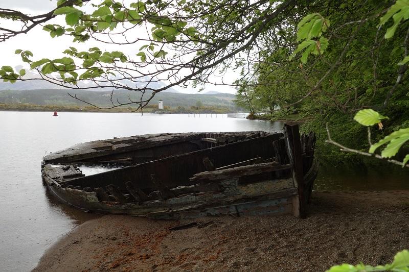 Wreck on Loch Lochy