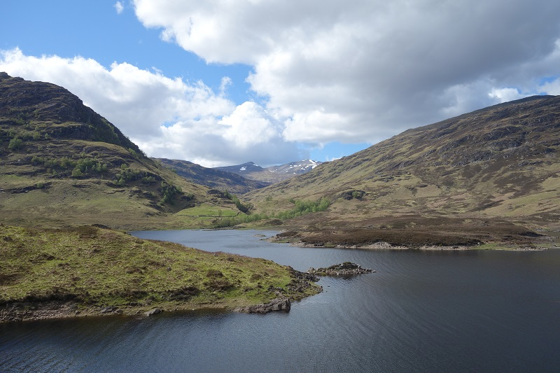 Looking back to the Lairig across Loch Treig
