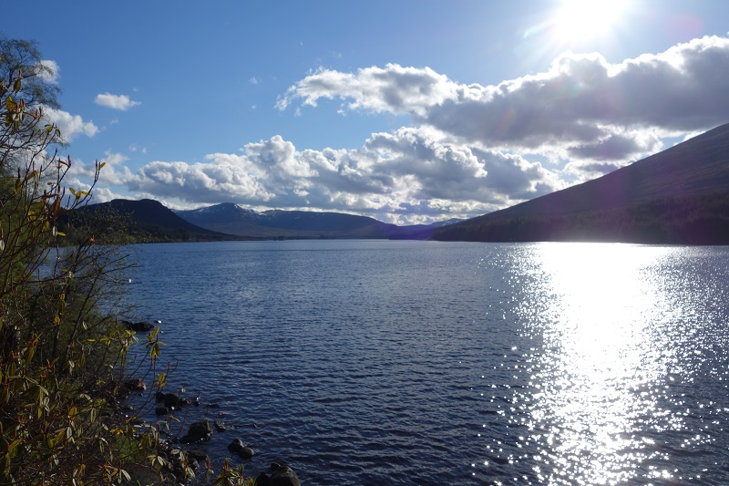 Looking back west over Loch Ossian