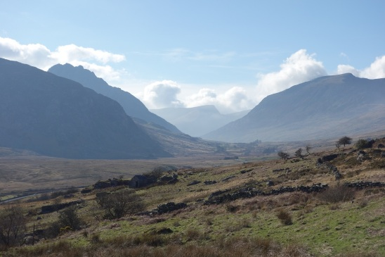 Looking up the Ogwen Valley from Capel Curig