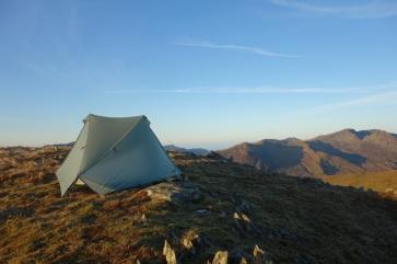 Camped on Pen Lithrig y Wrach