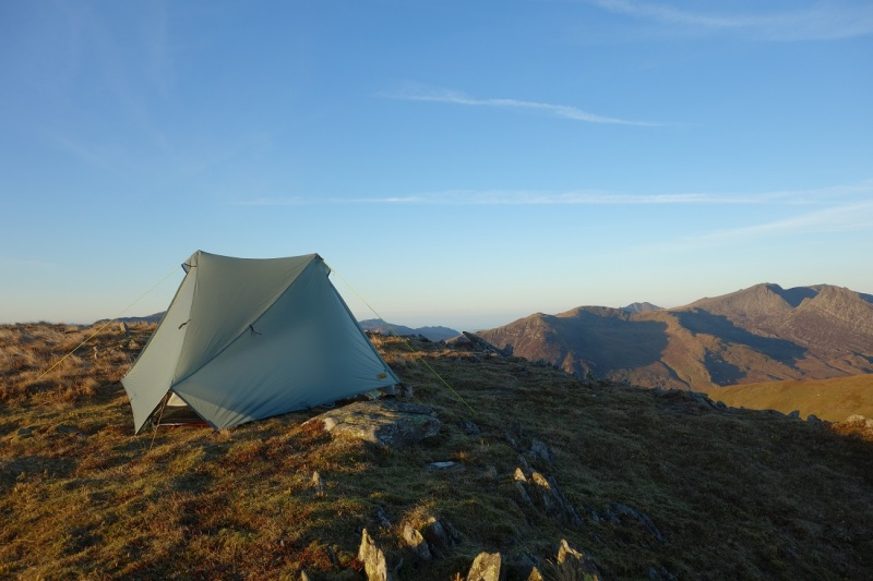 Camped on Pen Lithrig y Wrach