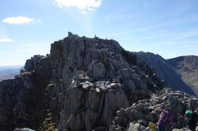 Top of Tryfan from North Ridge