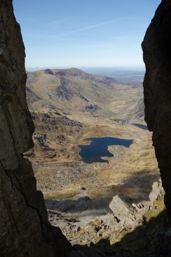 View from a cleft ascending Bristley Ridge