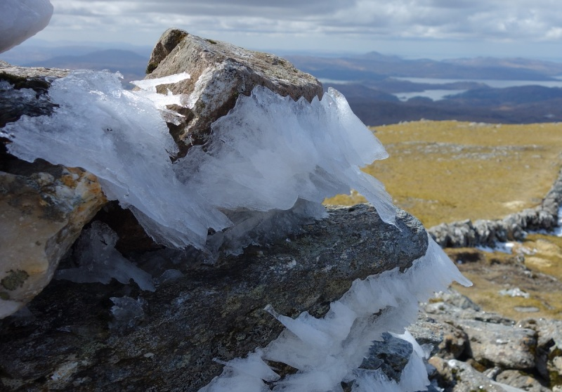 Icy start on Rios Beinn, second of the the Moidart Corbetts