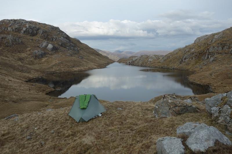 Day 1 camp, Lochan nan Sleubhaich
