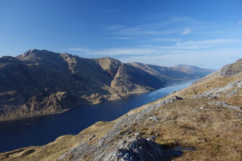 Loch Sheil, descending the Moidart Corbetts