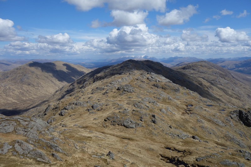 Looking East from Stob a Chuir, Cona Glen down to the left, Glen Scaddle to the right