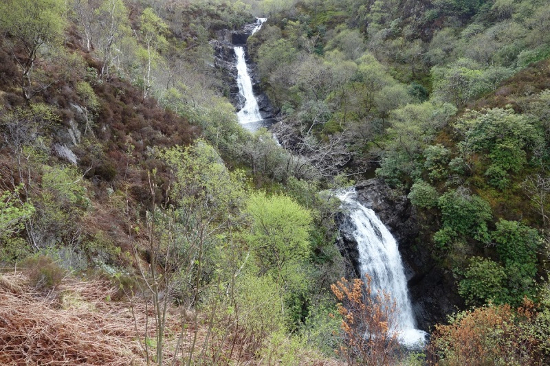 Inchree Waterfalls in the Glen Righ forest