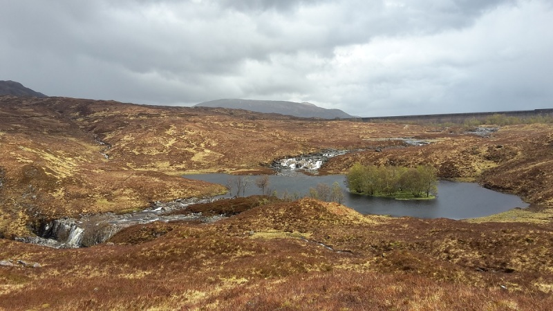 The next it's sunny....Dubh Lochan below Blackwater Dam