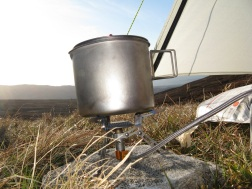 Camped below Carn Gorm