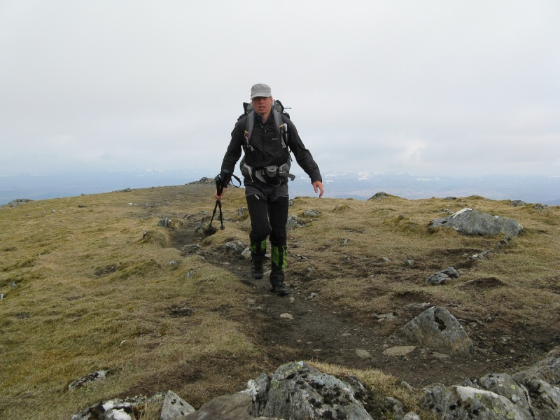 Striding to the top of Carn Gorm