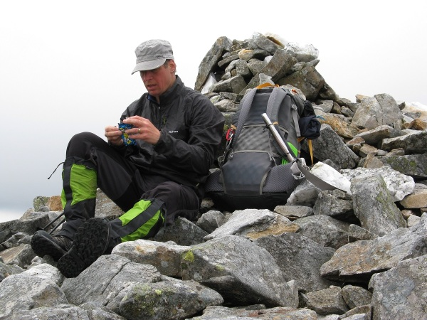 Taking a break on Carn Mairg