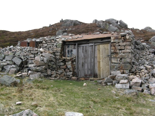 Shelter at Geal Charn. Let's just say this one's a bit basic.