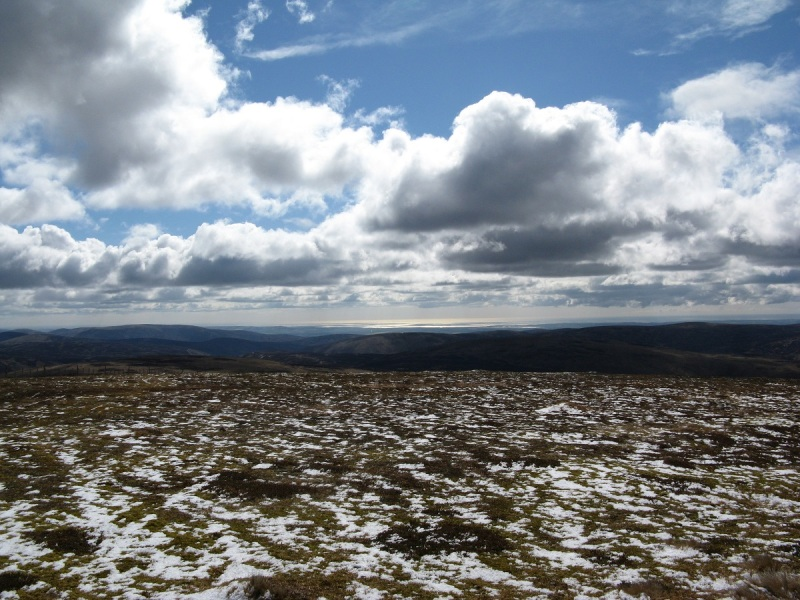 First view of the East coast from the top of Ben Tirran