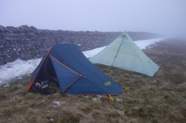 Camped on top of Whernside