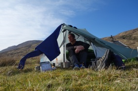 Relaxing eveinings camp in Glen Scaddle