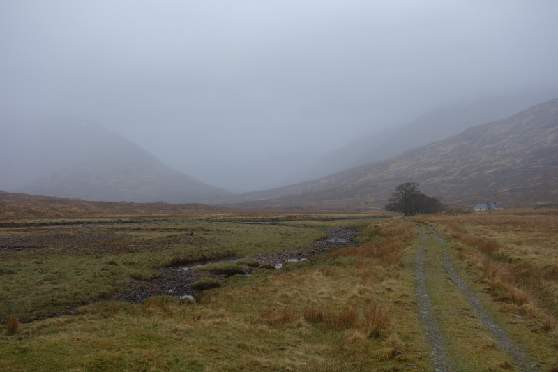 Glen Scaddle next morning, and a change in the weather