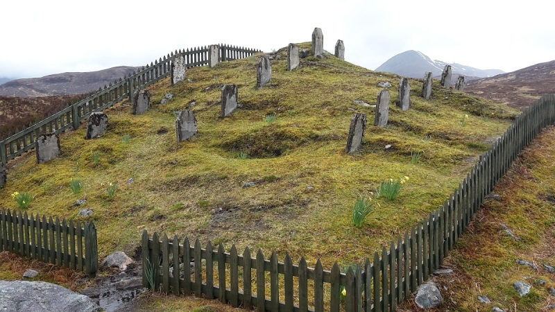 The Navvies graveyard below Blackwater Dam