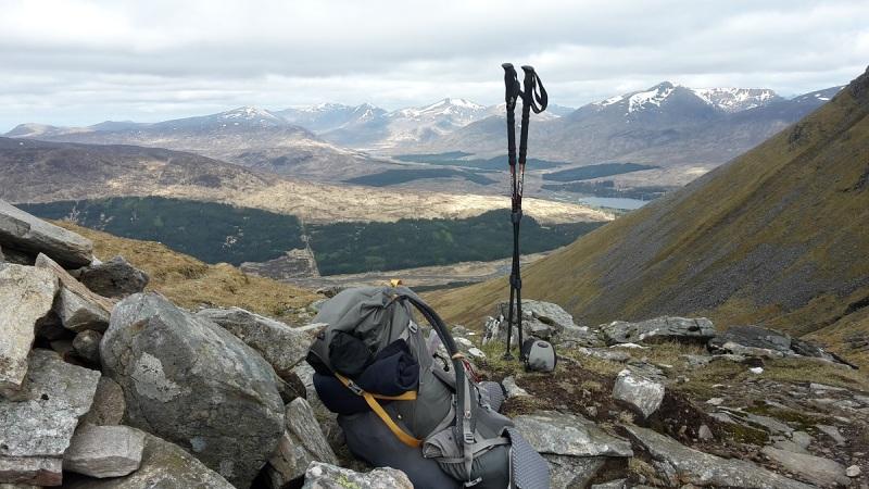 Dropping my pack at Allt Coire an Dothaidh to ascend Beinn Dorain