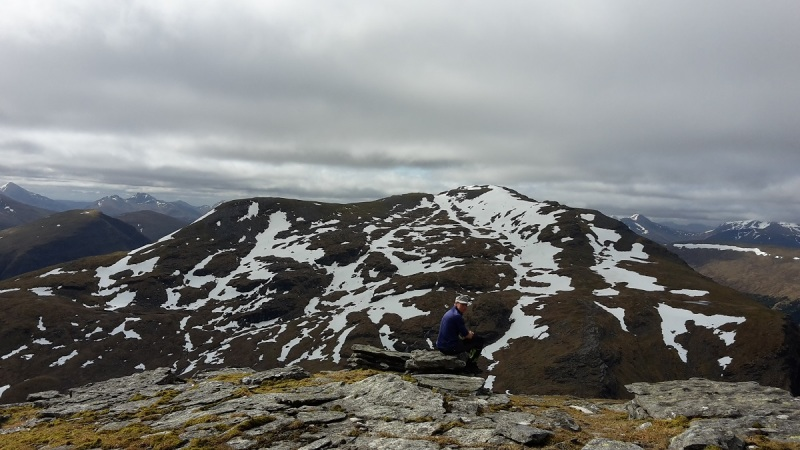 Looking back to Beinn Dorain from Beinn an Dothaidh (Bridge of Orchy Munros)
