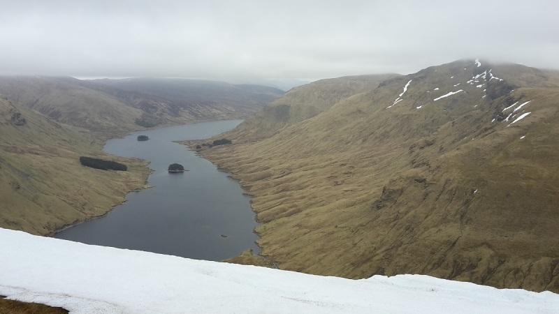 Loch an Daimh from Sron a'Choire Chnapanich (Corbett)