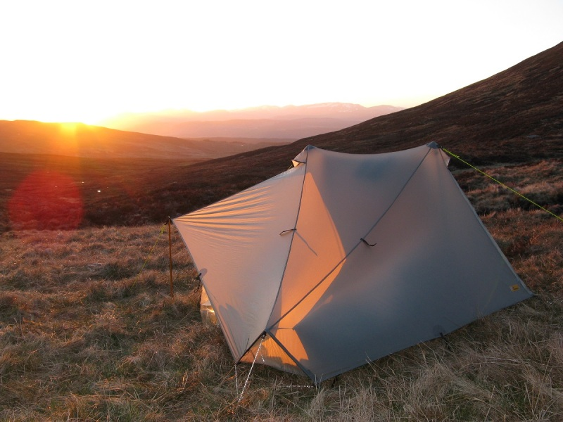 As the sun set in the munros north of Glen Lyon, the temperature plummeted