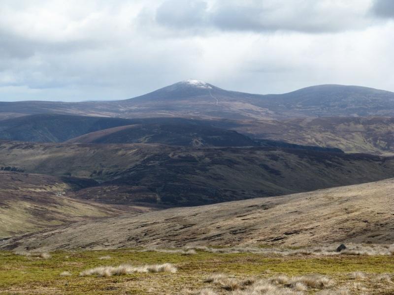Looking across towards Mount Keen from Green Hill