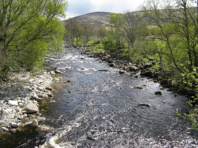 River North Esk on the way down to Tarfside