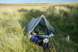 Camped the 2nd evening at Goswick Sands near Lindisfarne