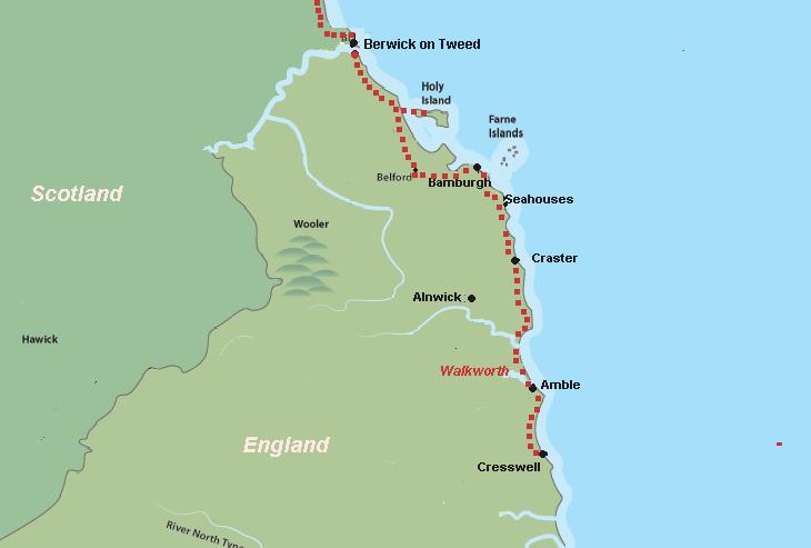 Northumberland Beaches Map