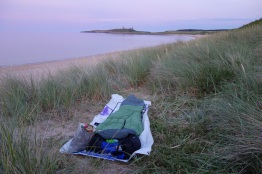 Bivvy in the Dunes at Dunstanburgh Castle